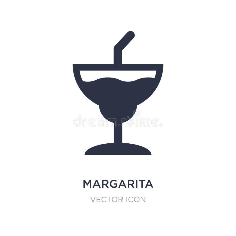 icône de margarita sur le fond blanc Illustration simple d'élément de concept de boissons illustration stock