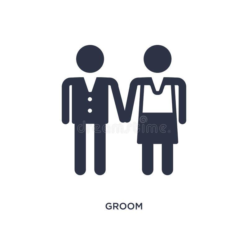 icône de marié sur le fond blanc Illustration simple d'élément de l'amour et du concept de épouser illustration libre de droits