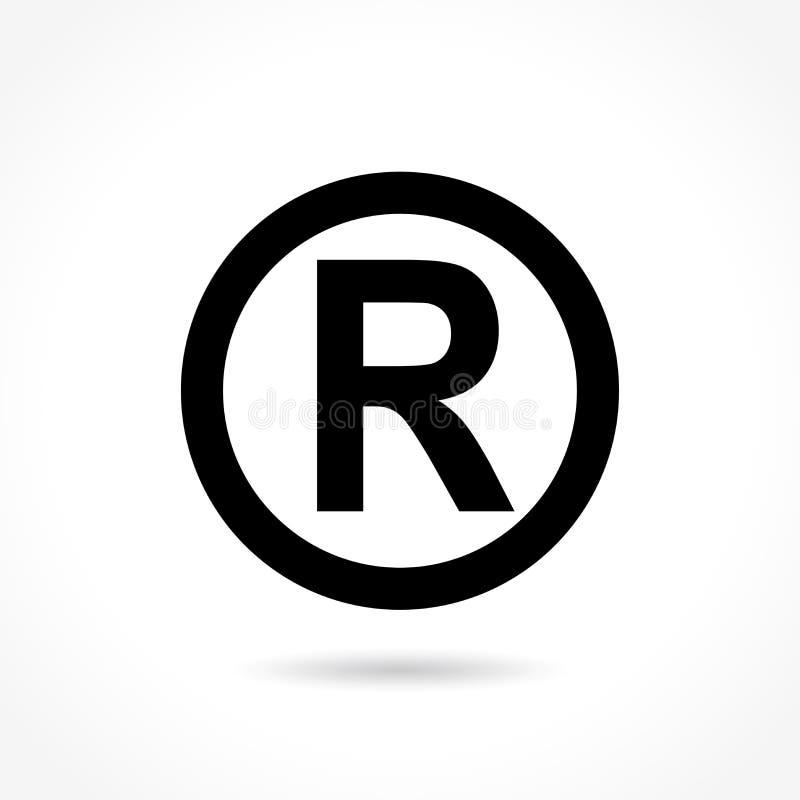 Icône de marque déposée sur le fond blanc illustration de vecteur