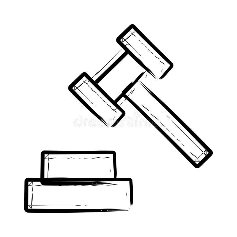 Icône de marteau de cour illustration libre de droits