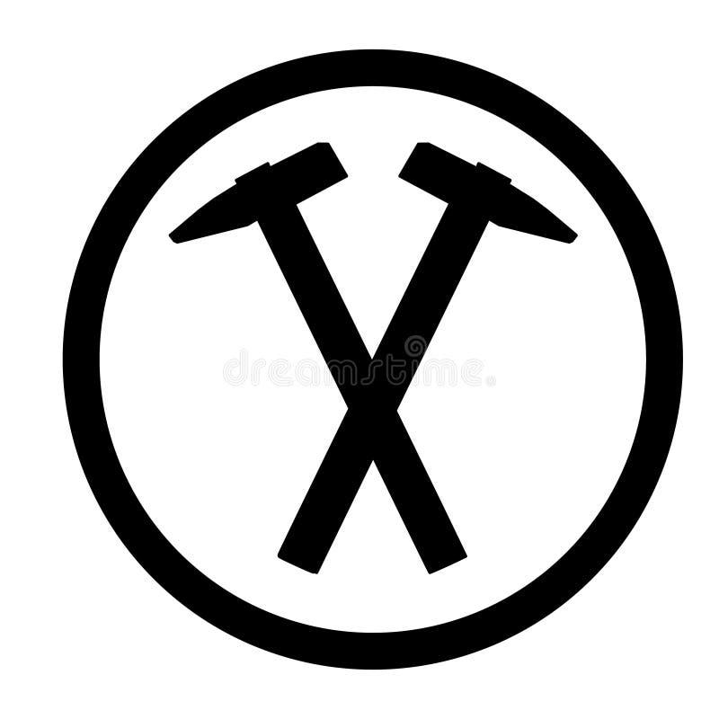 Ic?ne de marteau, pour la conception graphique du logo, embl?me, symbole, signe, illustration de vecteur