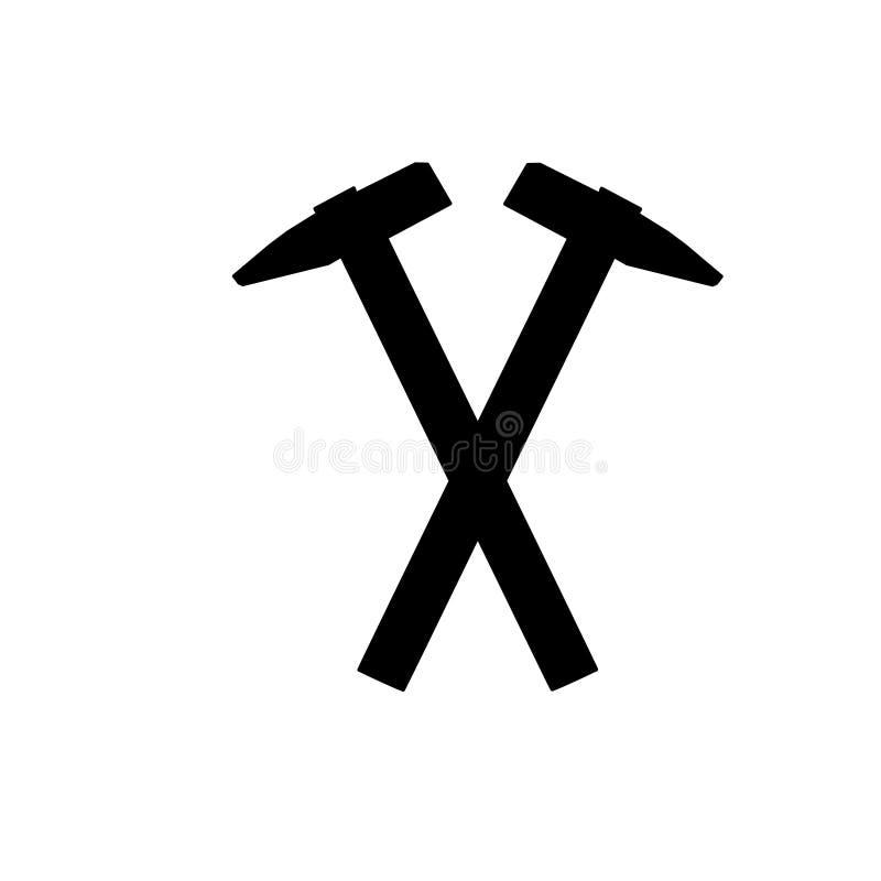 Ic?ne de marteau, pour la conception graphique du logo, embl?me, symbole, signe, illustration libre de droits