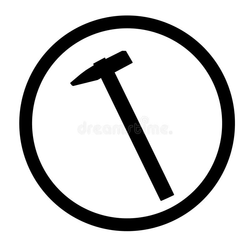 Ic?ne de marteau, pour la conception graphique du logo, embl?me, symbole, signe, illustration stock