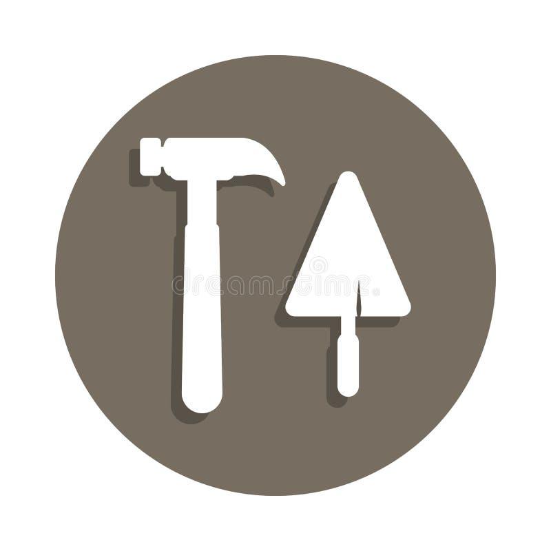 icône de marteau de spatule dans le style d'insigne Un de l'icône de collection de matériaux de construction peut être employé po illustration de vecteur
