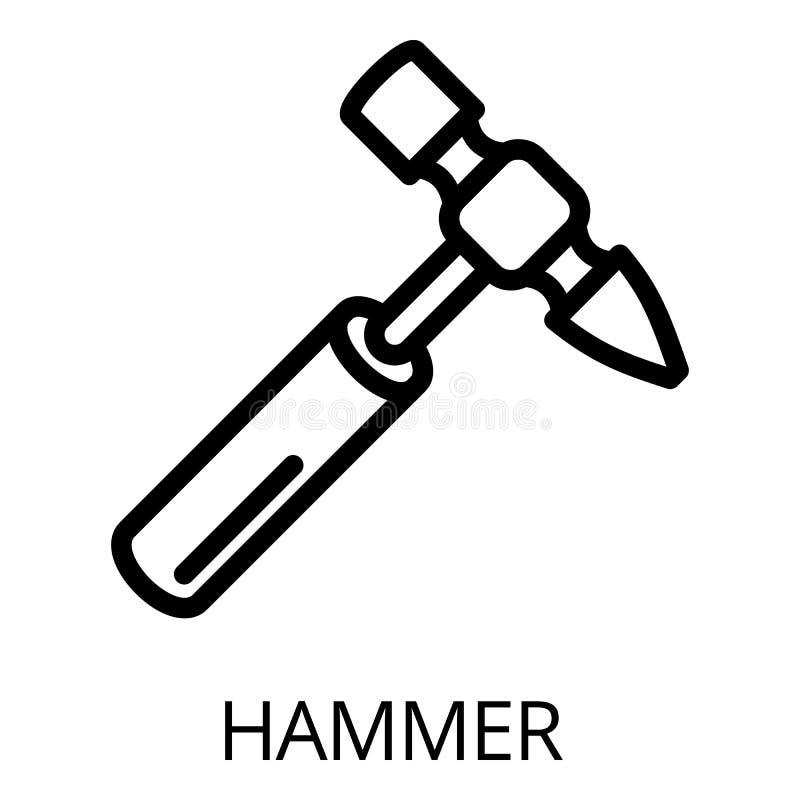 Icône de marteau, style d'ensemble illustration de vecteur
