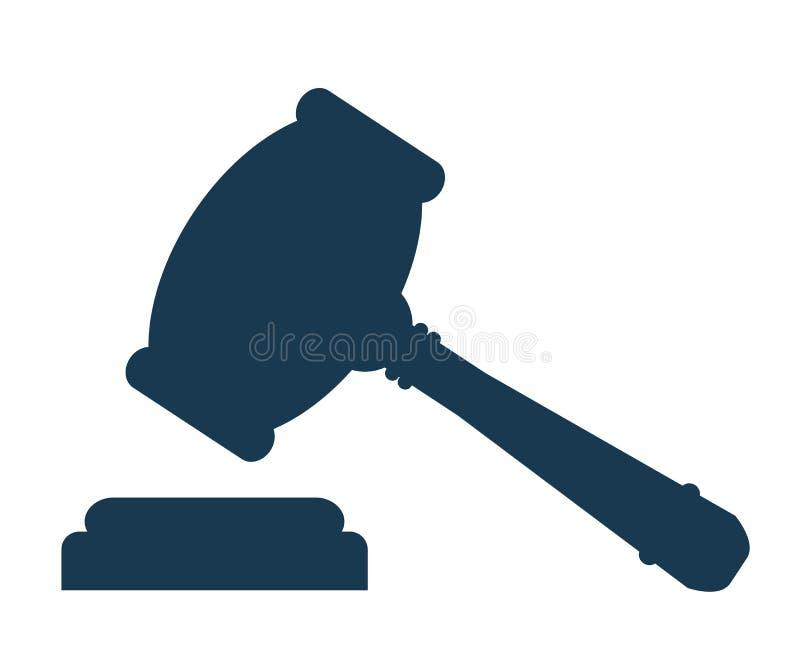 Icône de marteau de vente aux enchères Symbole de marteau de juge de loi - vecteur illustration de vecteur