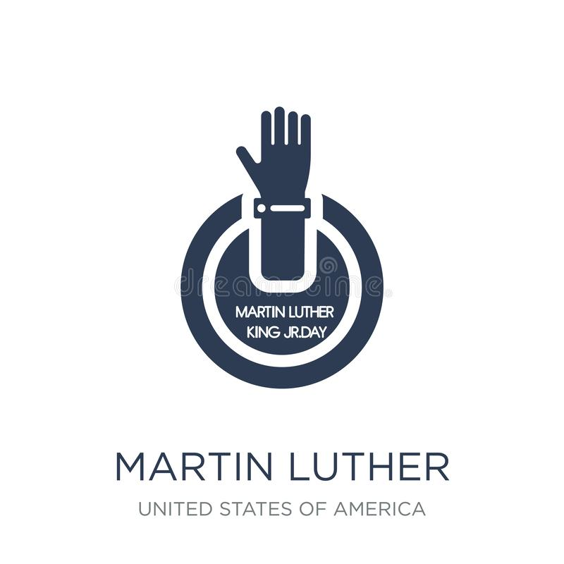 Icône de Martin Luther King Day Vecteur plat à la mode Martin Luther Ki illustration libre de droits