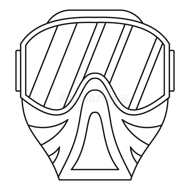 Icône de masque de Paintball, style d'ensemble illustration de vecteur