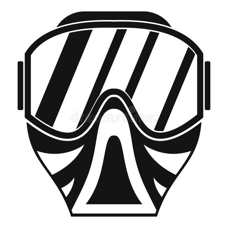 Icône de masque de Paintball, style simple illustration de vecteur