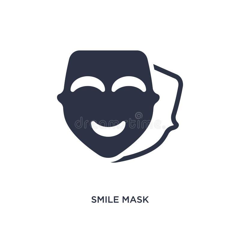 icône de masque de sourire sur le fond blanc Illustration simple d'élément de concept de cinéma illustration de vecteur
