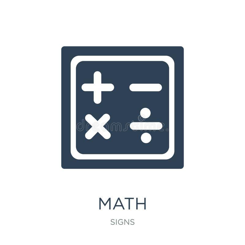 icône de maths dans le style à la mode de conception icône de maths d'isolement sur le fond blanc symbole plat simple et moderne  illustration stock