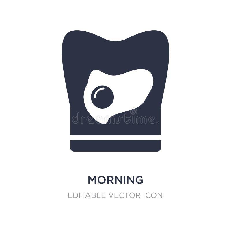 icône de matin sur le fond blanc Illustration simple d'élément de concept de nourriture illustration de vecteur
