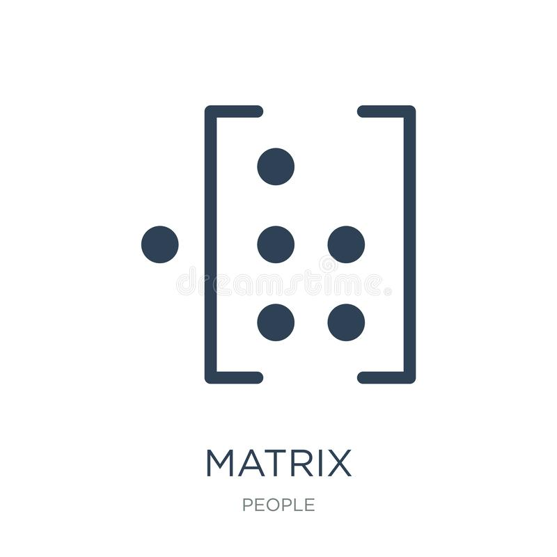 icône de matrice dans le style à la mode de conception icône de matrice d'isolement sur le fond blanc symbole plat simple et mode illustration libre de droits