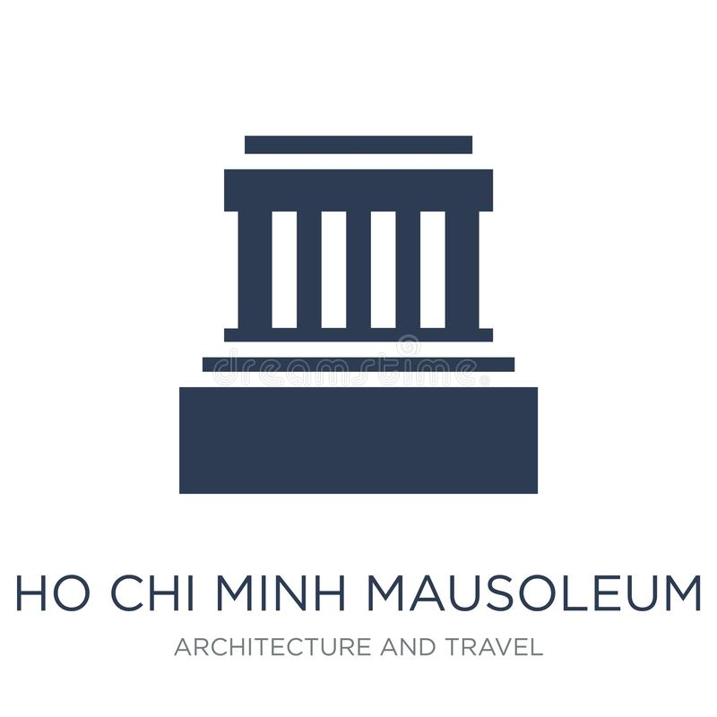 Icône de mausolée de Hô Chi Minh Mauso plat à la mode de Hô Chi Minh de vecteur illustration stock