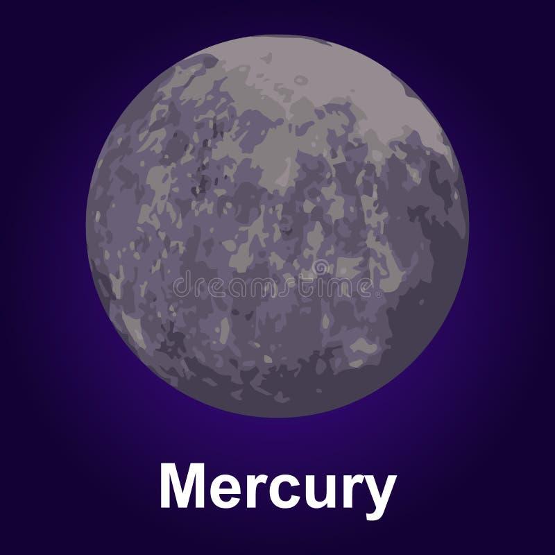 Icône de Mercury, style isométrique illustration de vecteur