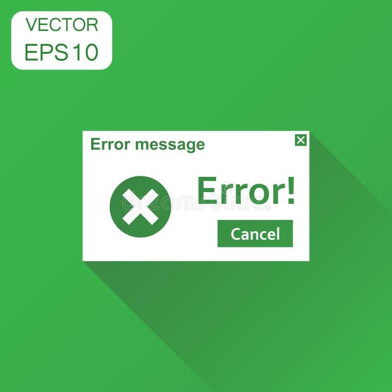 Icône de message d'avertissement d'erreur Alerte de virus de concept d'affaires illustration de vecteur
