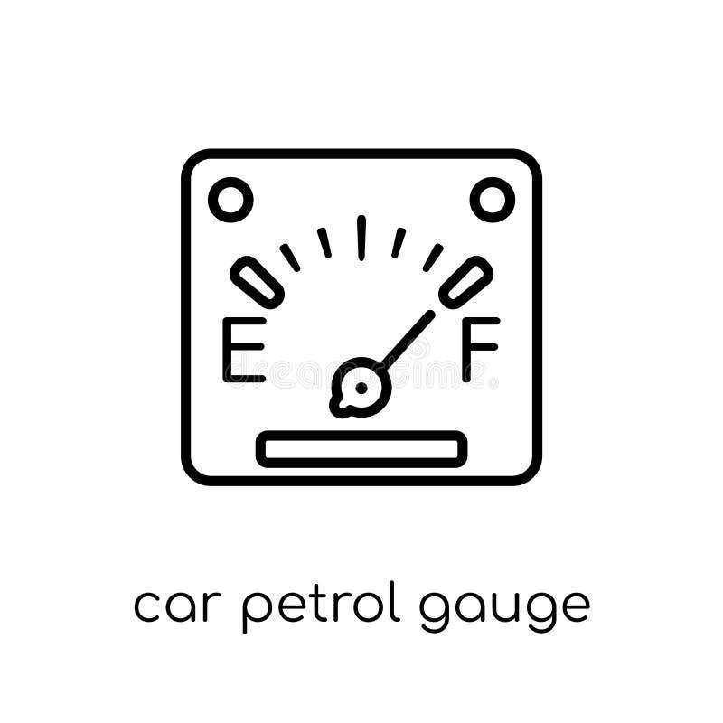 icône de mesure d'essence de voiture de collection de pièces de voiture illustration stock