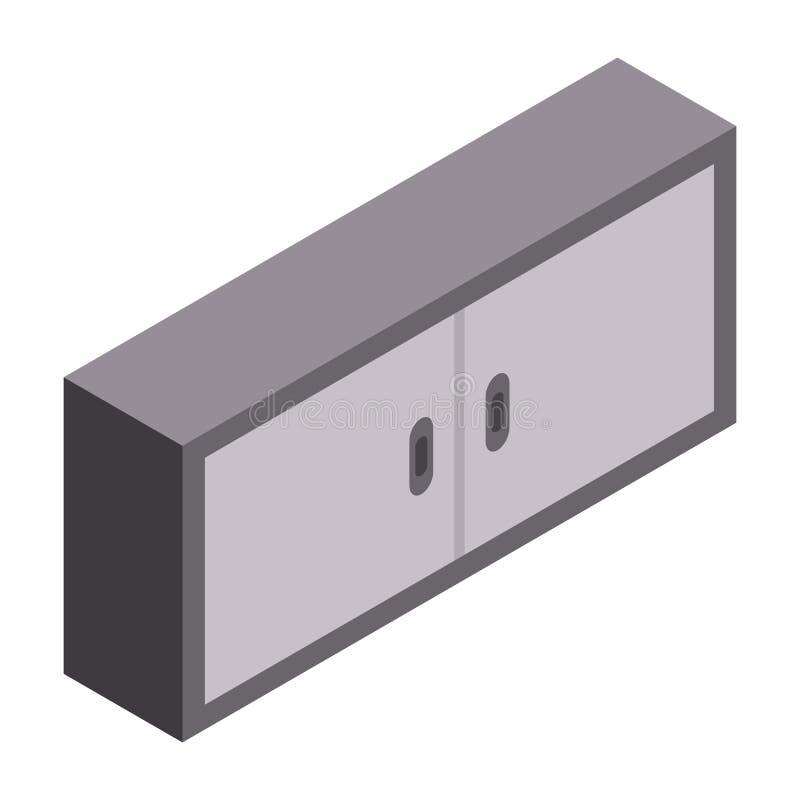 Icône de meubles de garage, style isométrique illustration de vecteur