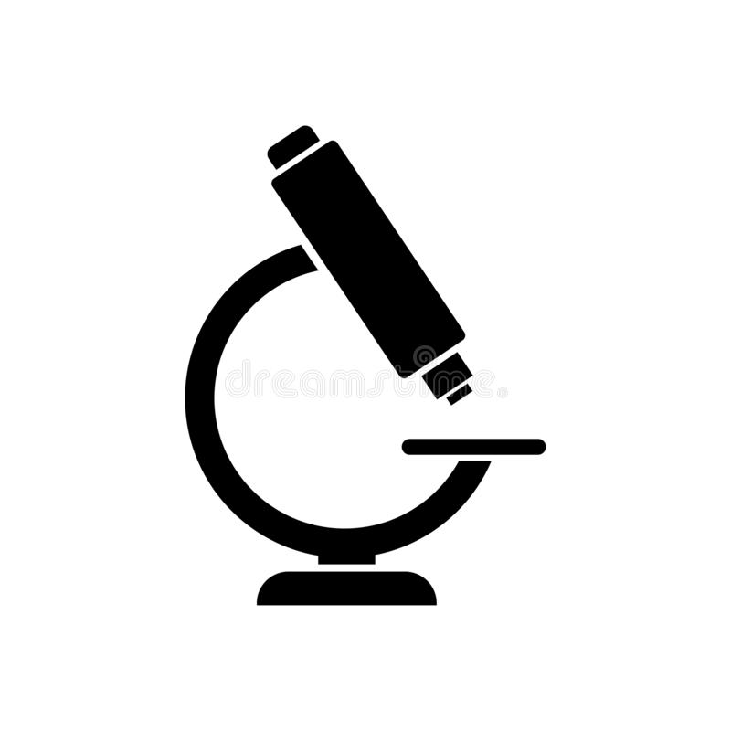 Icône de microscope Logo pour le laboratoire Laboratoire médical illustration libre de droits