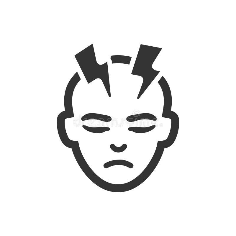 Icône de migraine illustration de vecteur