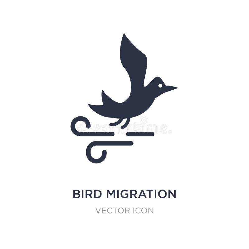 icône de migration d'oiseau sur le fond blanc Illustration simple d'élément de concept d'automne illustration stock