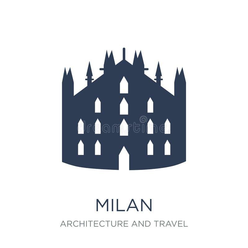 Icône de Milan Icône plate à la mode de Milan de vecteur sur le fond blanc franc illustration de vecteur