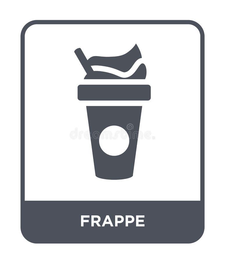 icône de milk-shake dans le style à la mode de conception icône de milk-shake d'isolement sur le fond blanc symbole plat simple e illustration stock