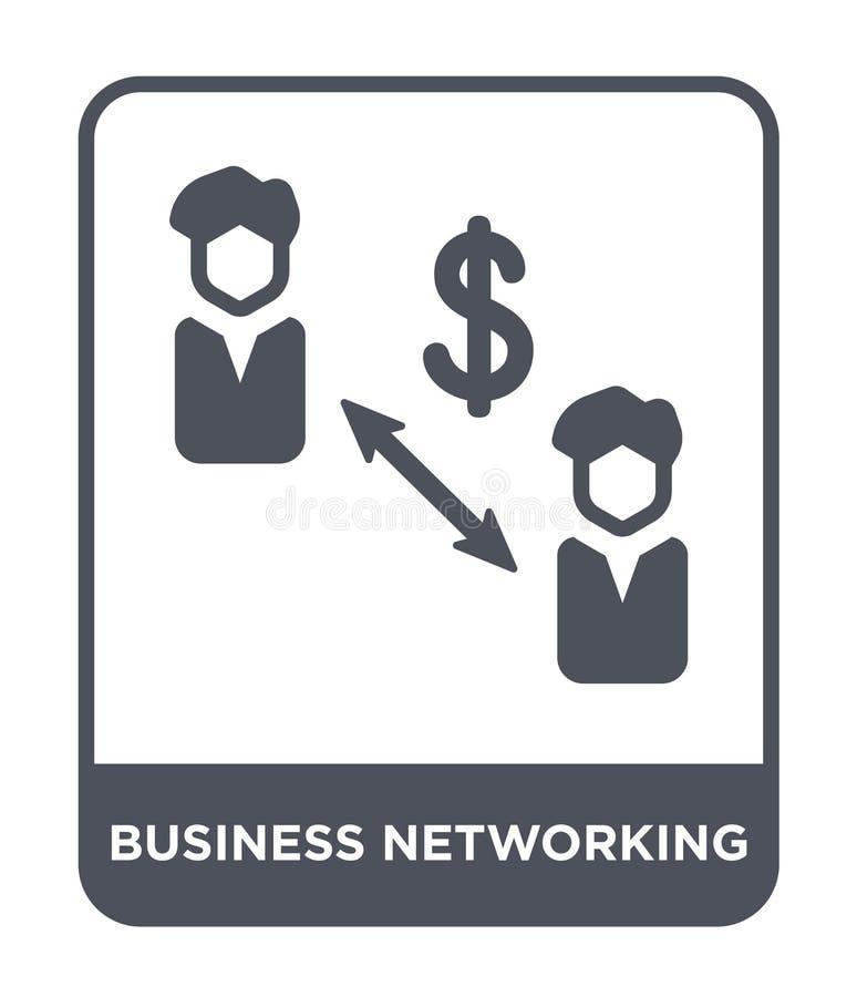 icône de mise en réseau d'affaires dans le style à la mode de conception icône de mise en réseau d'affaires d'isolement sur le fo illustration libre de droits