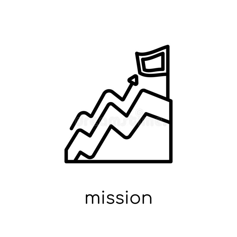Icône de mission  illustration libre de droits