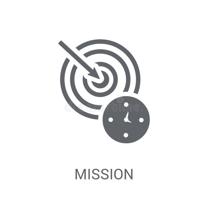 Icône de mission  illustration de vecteur