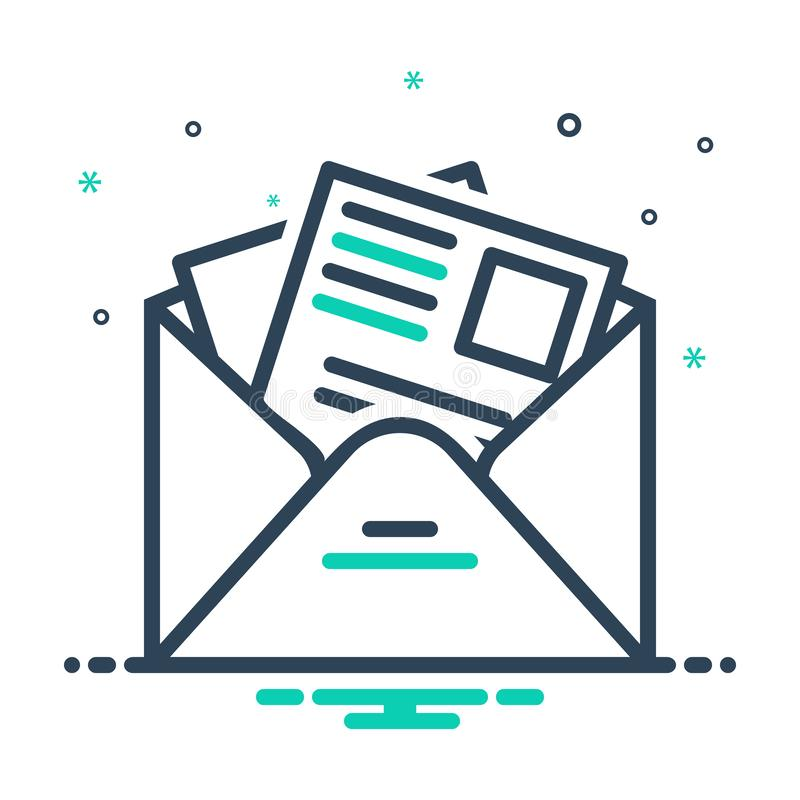 Icône de mixage noir pour Newsletter, template et news illustration de vecteur