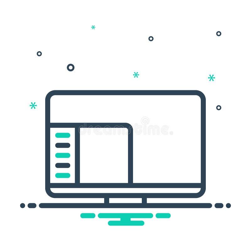 icône de mixage pour Desktop System, desktop et start illustration libre de droits