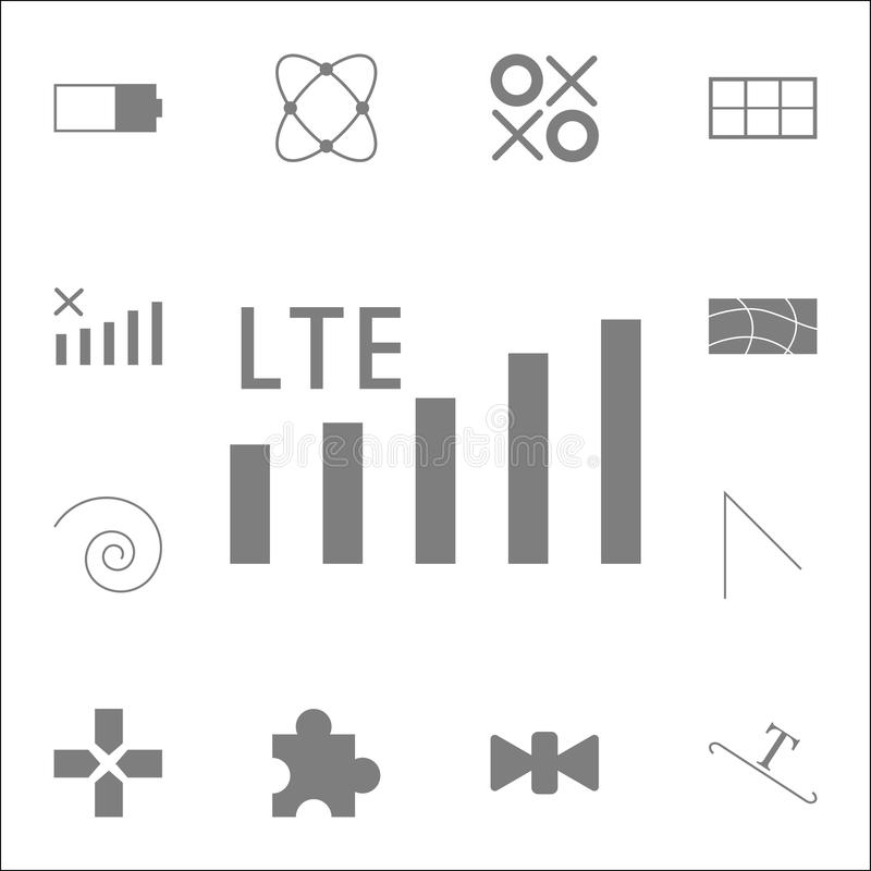 icône de mobile de réseau de lte Ensemble détaillé d'icônes minimalistic Signe de la meilleure qualité de conception graphique de illustration de vecteur