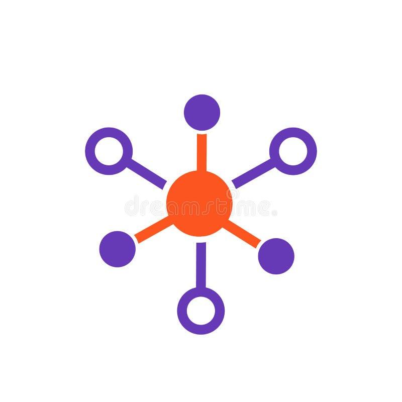 Icône de molécule sur le blanc illustration stock