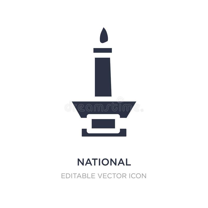 icône de monas de monument national sur le fond blanc Illustration simple d'élément de concept de monuments illustration de vecteur