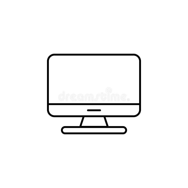 Icône de moniteur d'ordinateur Symbole plat de PC Dirigez l'illustration, EPS10 illustration libre de droits