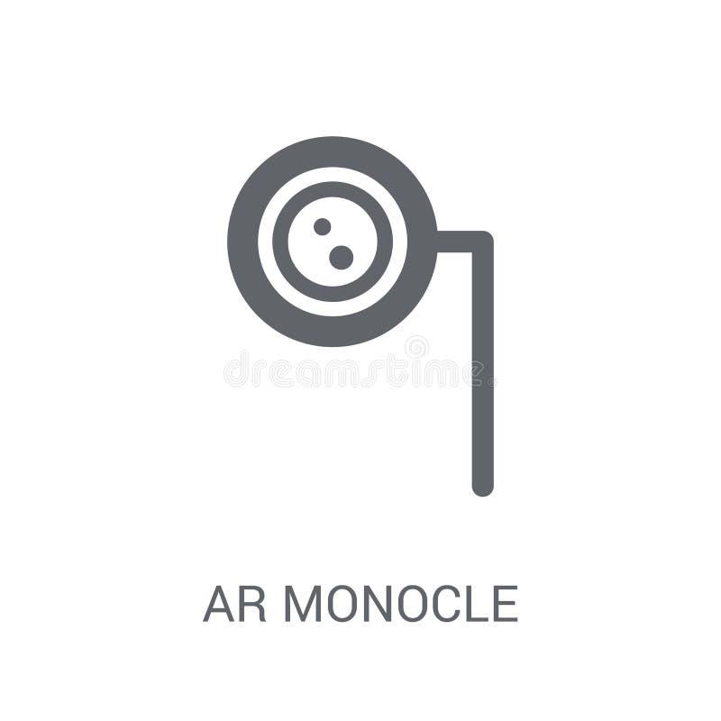 Icône de monocle de l'AR  illustration de vecteur