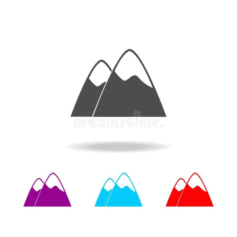 Icône de montagne Éléments de voyage dans les icônes colorées multi Icône de la meilleure qualité de conception graphique de qual illustration stock