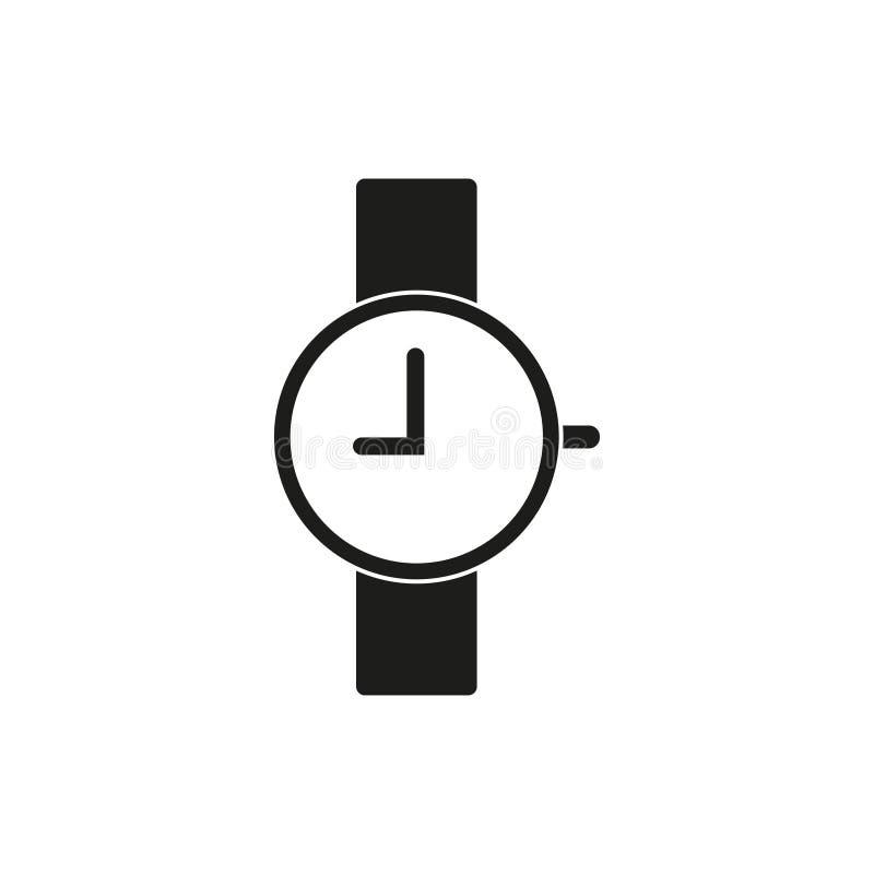 Icône de montre-bracelet, neuf heures illustration de vecteur