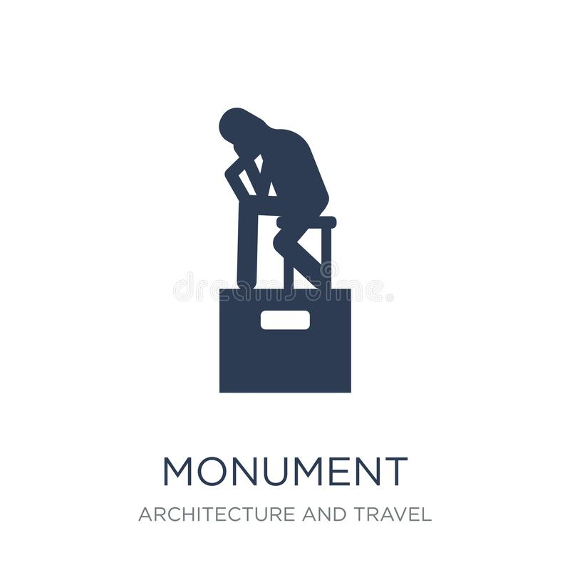 Icône de monument Icône plate à la mode de monument de vecteur sur le backgro blanc illustration stock