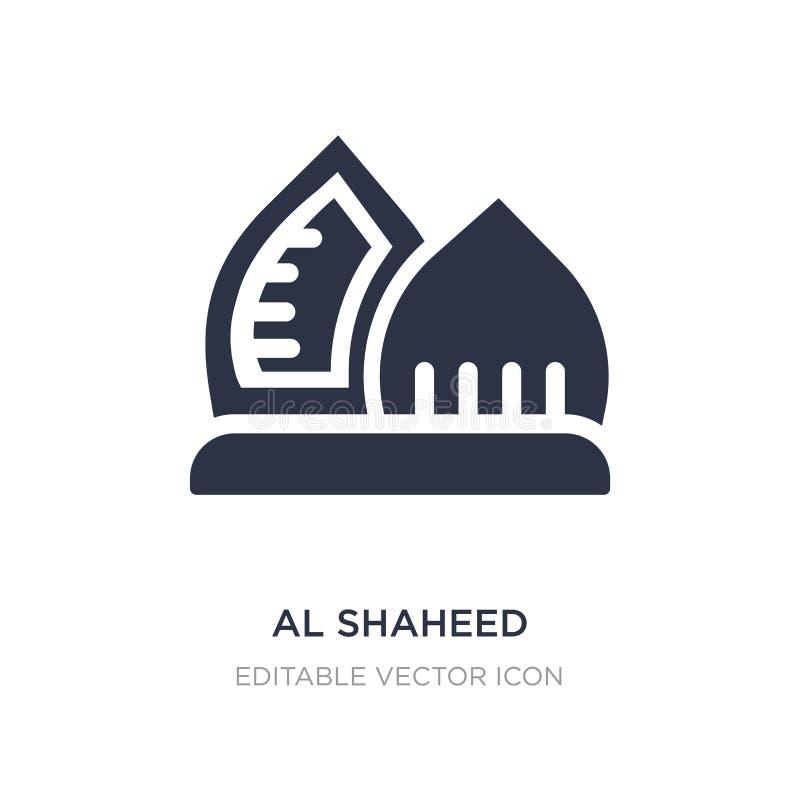 icône de monument shaheed par Al sur le fond blanc Illustration simple d'élément de concept de monuments illustration libre de droits