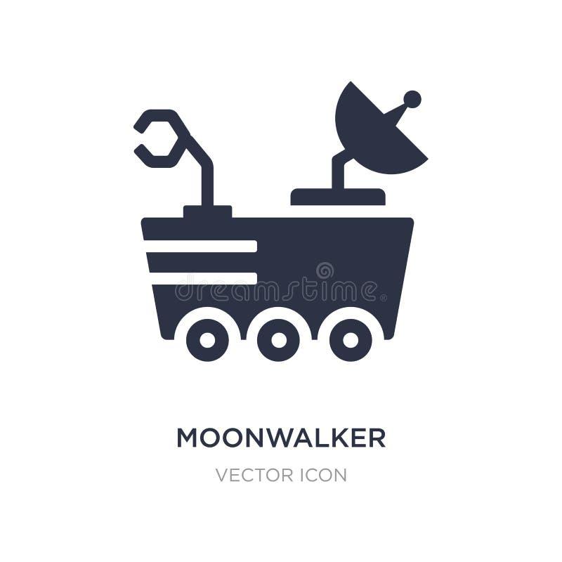 icône de moonwalker sur le fond blanc Illustration simple d'élément de concept d'astronomie illustration libre de droits
