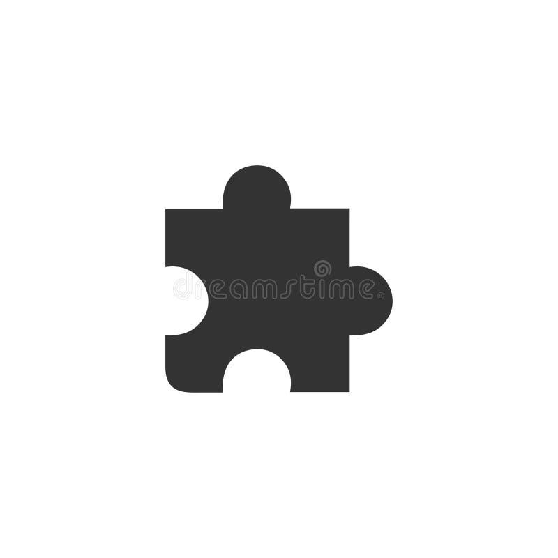 Icône de morceau de puzzle à plat illustration libre de droits