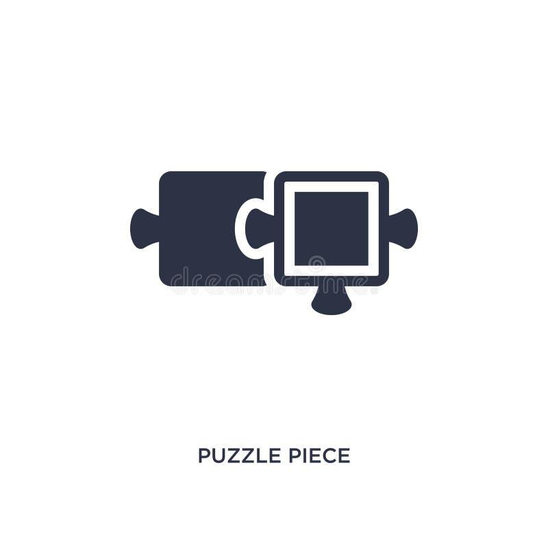 Icône de morceau de puzzle sur le fond blanc Illustration simple d'élément de concept de productivité illustration libre de droits