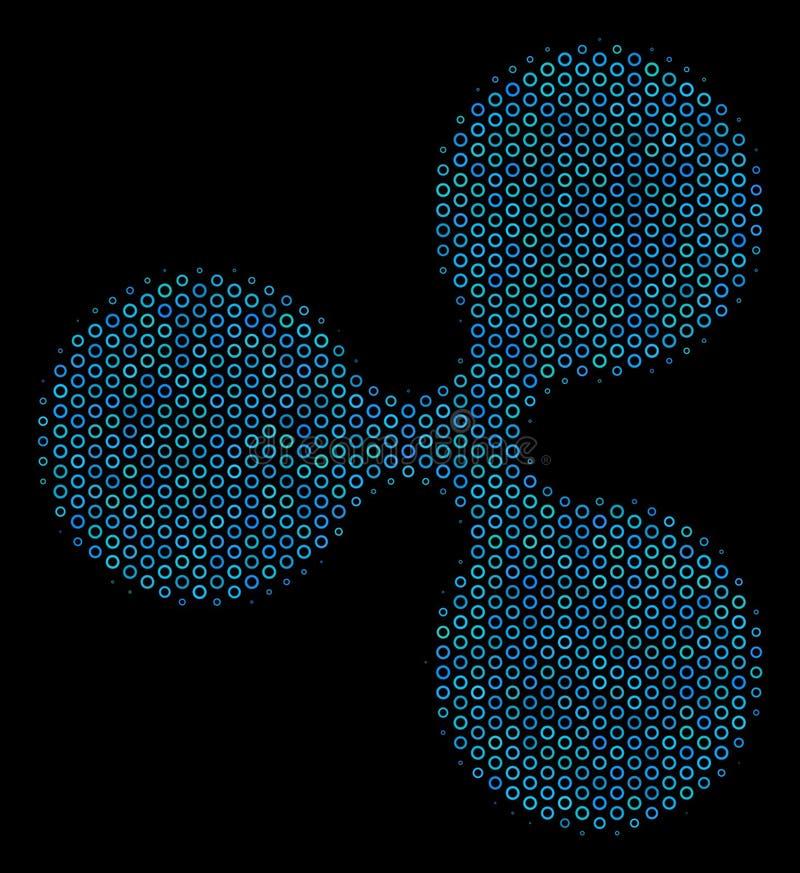 Icône de mosaïque de devise d'ondulation des cercles tramés illustration de vecteur