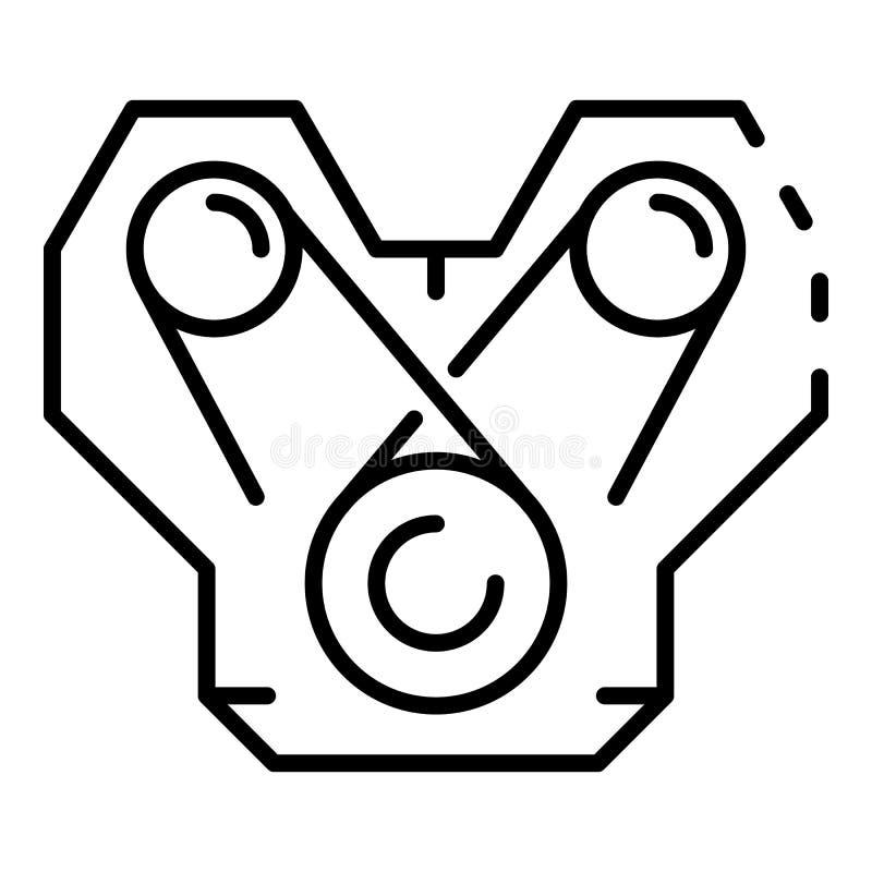 Icône de moteur de voiture de puissance, style d'ensemble illustration libre de droits