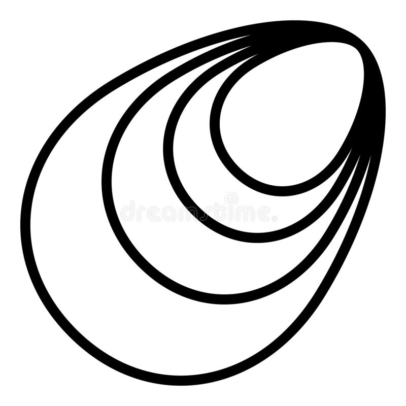 Icône de moules de Shell, style d'ensemble illustration libre de droits