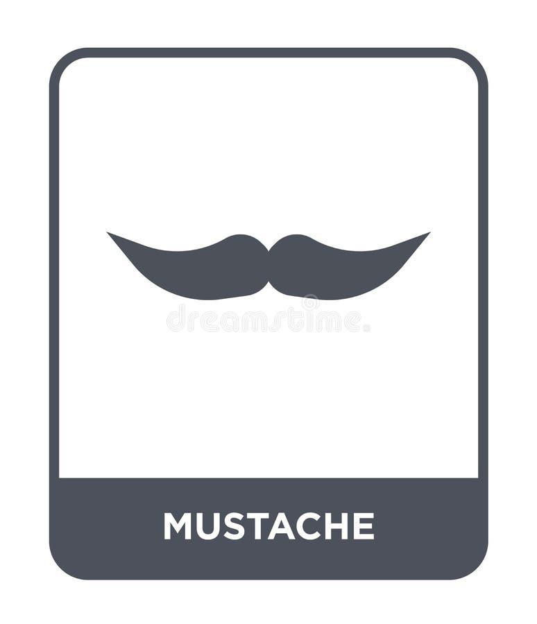 icône de moustache dans le style à la mode de conception icône de moustache d'isolement sur le fond blanc appartement simple et m illustration de vecteur