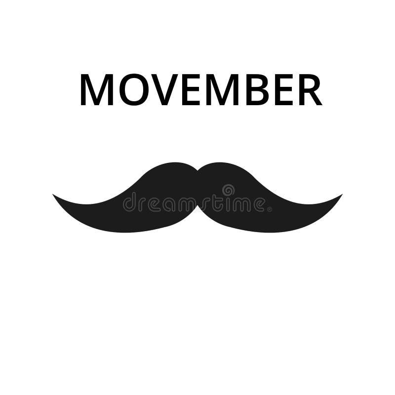 Icône de moustache Illustration simple d'icône de vecteur de moustache pour le Web Vecteur courant illustration libre de droits