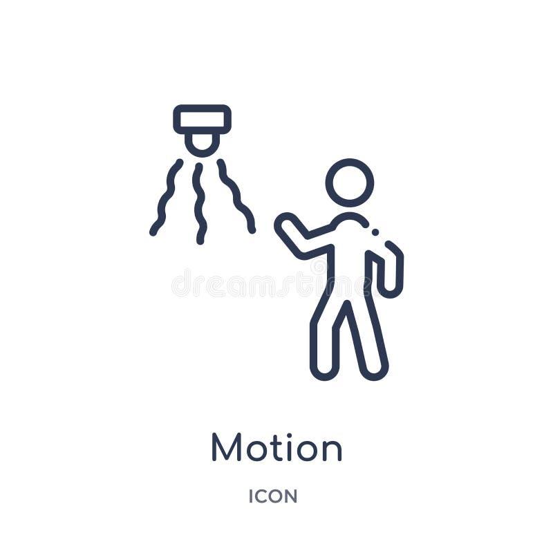 Icône de mouvement linéaire de collection d'ensemble d'intelligence artificielle Ligne mince vecteur de mouvement d'isolement sur illustration de vecteur